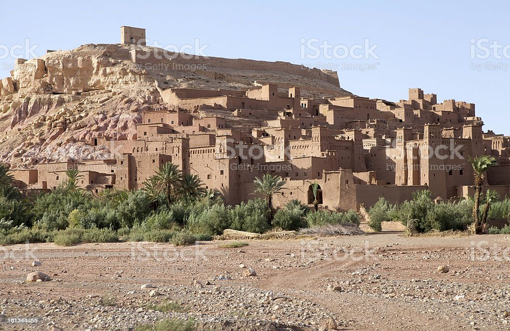 Morocco fortified city of Ait Benhaddou royalty-free stock photo