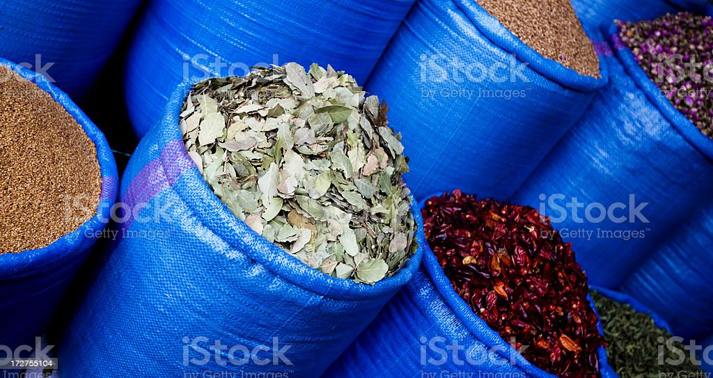 Morocco herbs stock photo