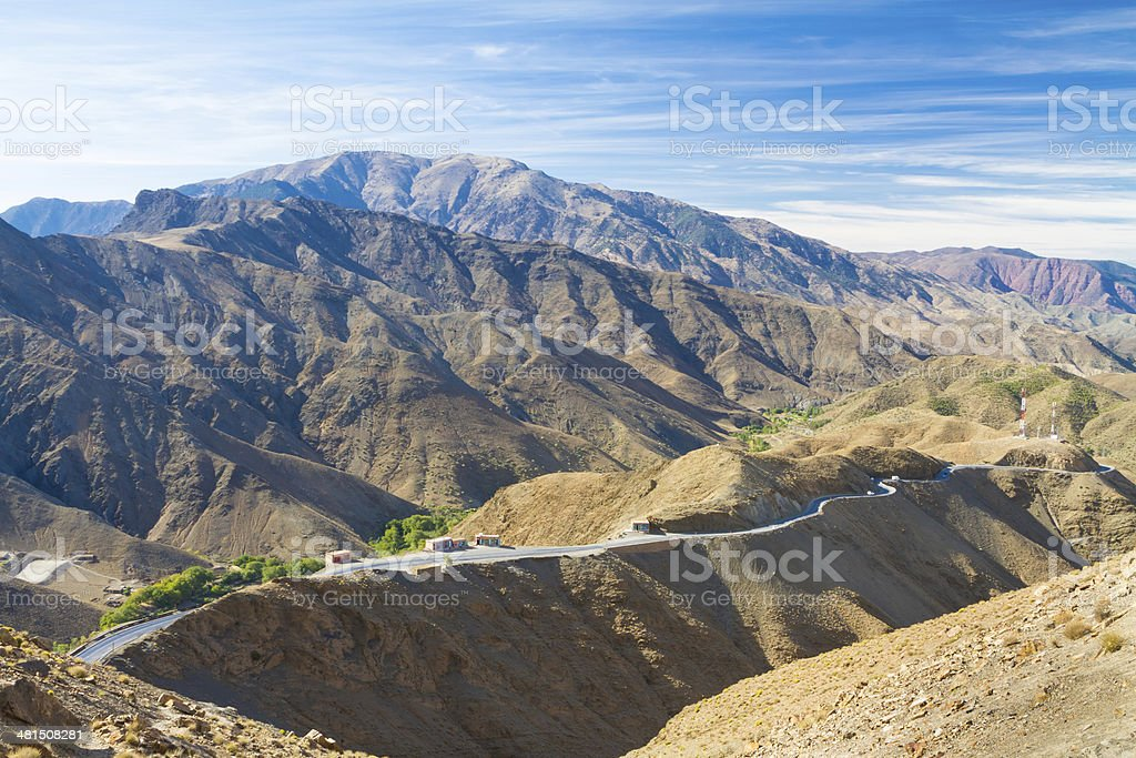Morocco, High Atlas Mountains, Tizi N'Tichka pass. stock photo