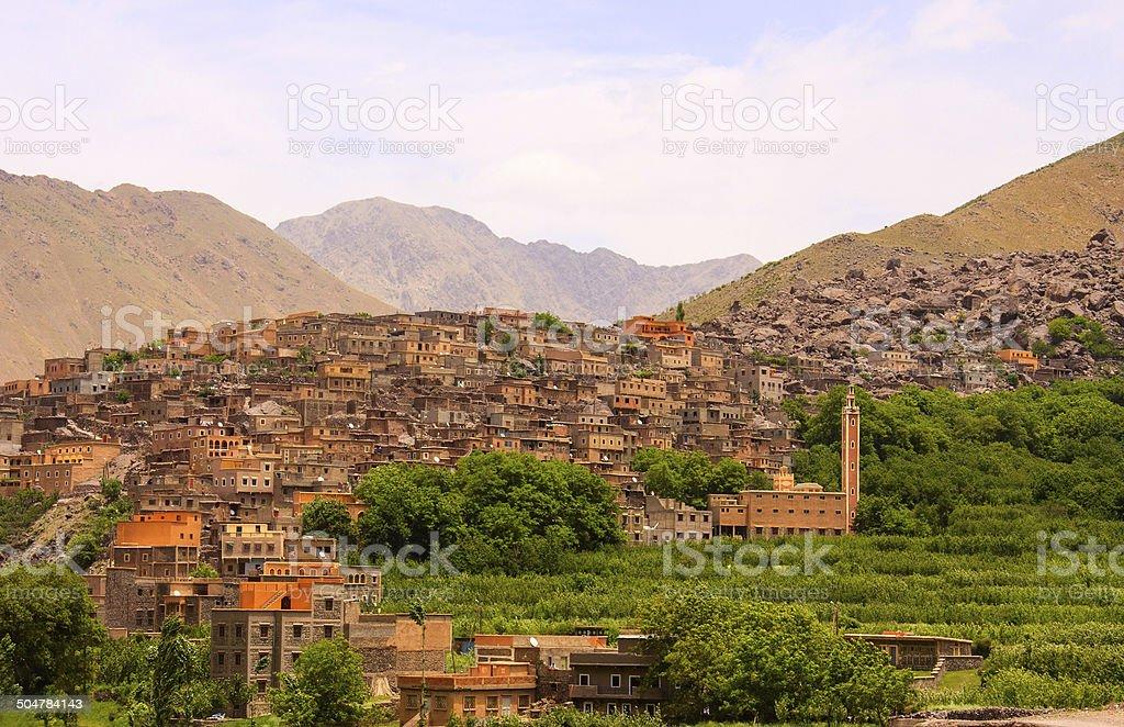 Morocco  mountain landscape. stock photo