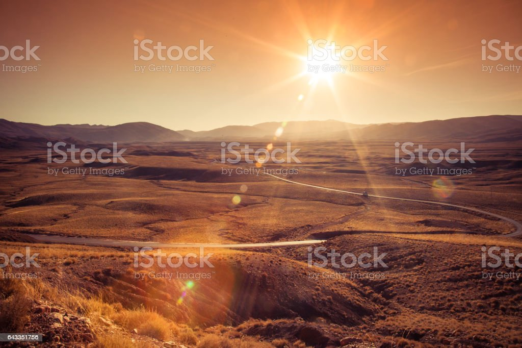 Morocco mountain road stock photo