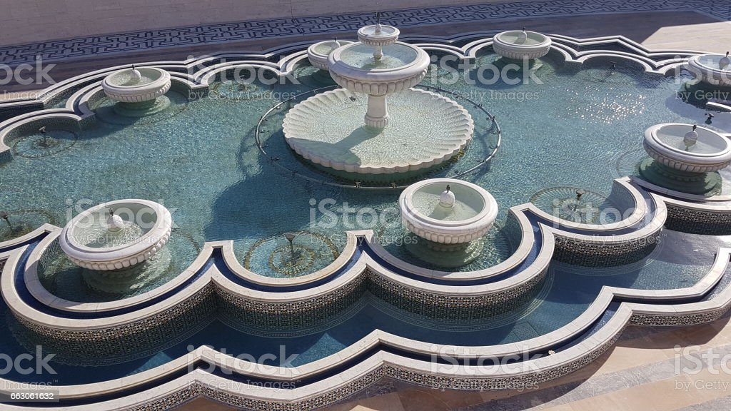 Morocco - Rabat fontain of tower hassan stock photo