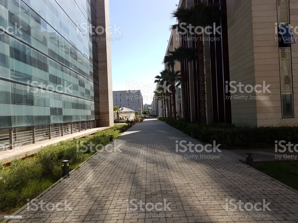 Morocco - Rabat technopolis highway of entreprises stock photo