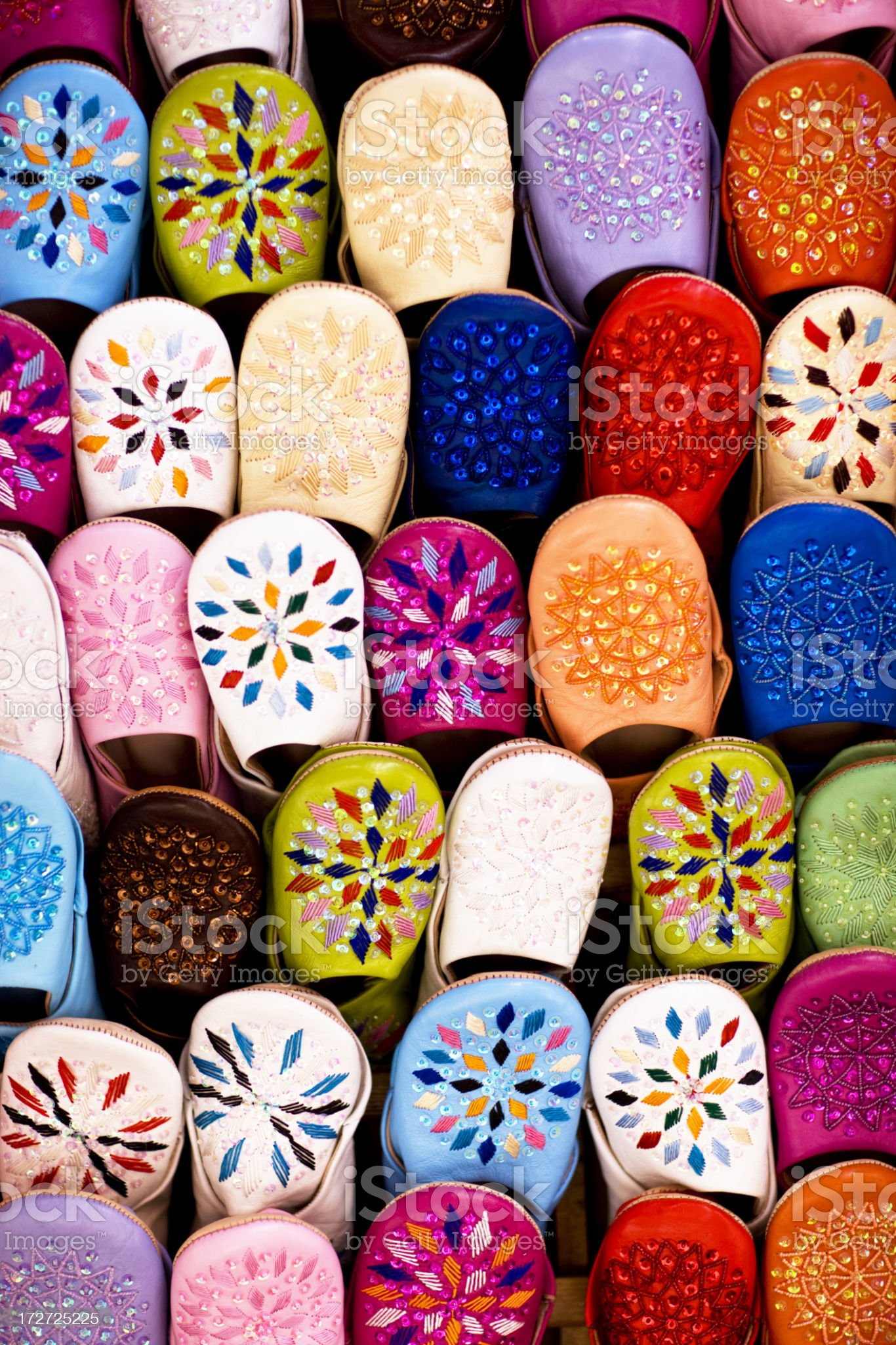 Morocco Shoes royalty-free stock photo