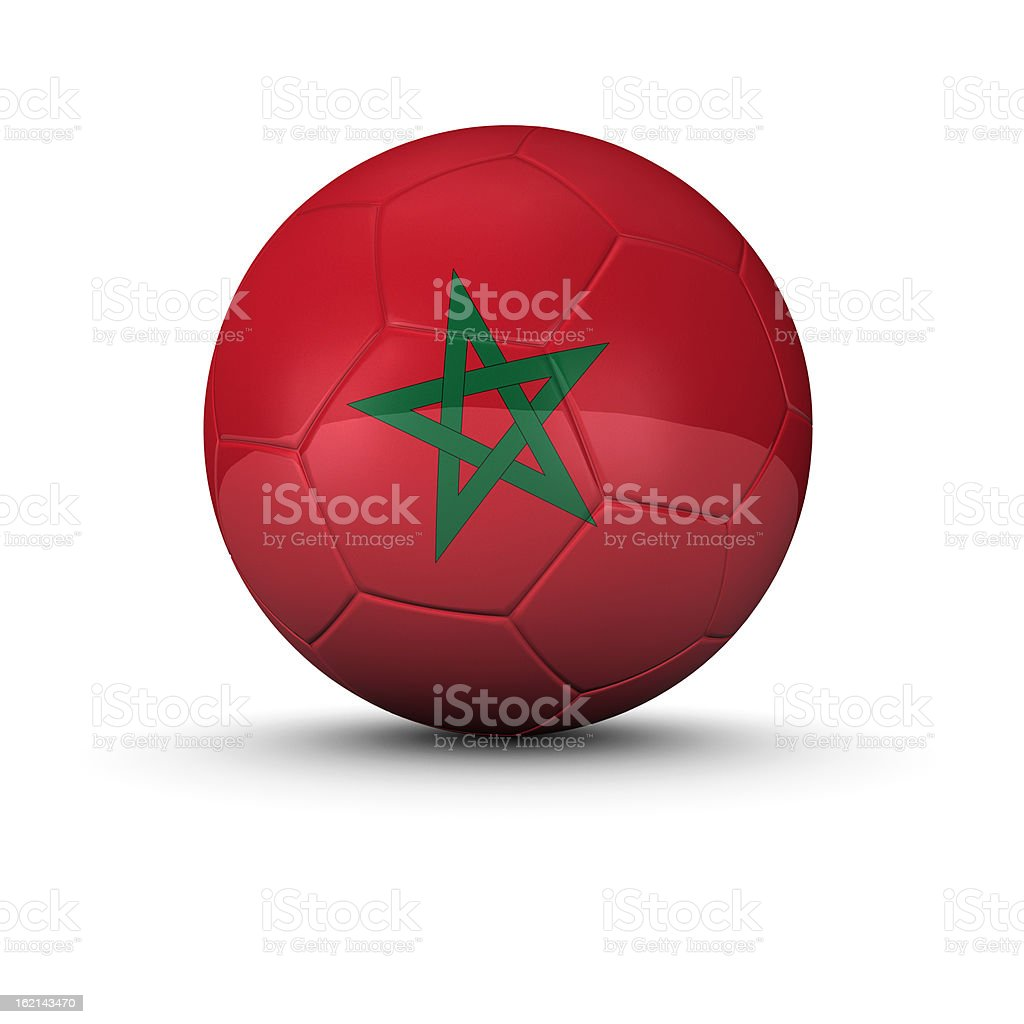Morocco soccer ball royalty-free stock photo