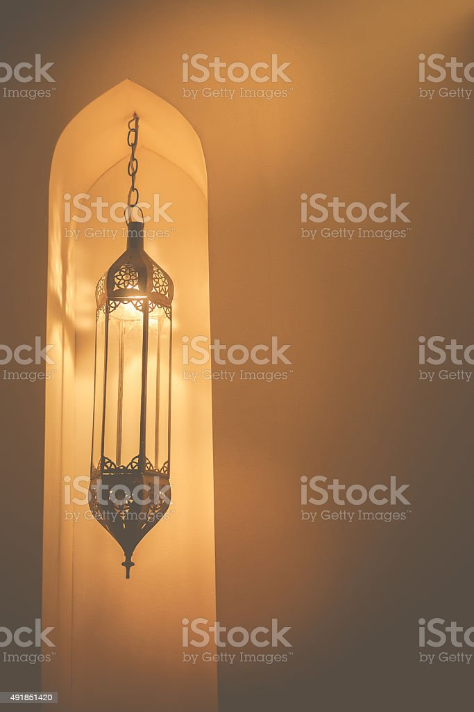 Morocco style lamp stock photo