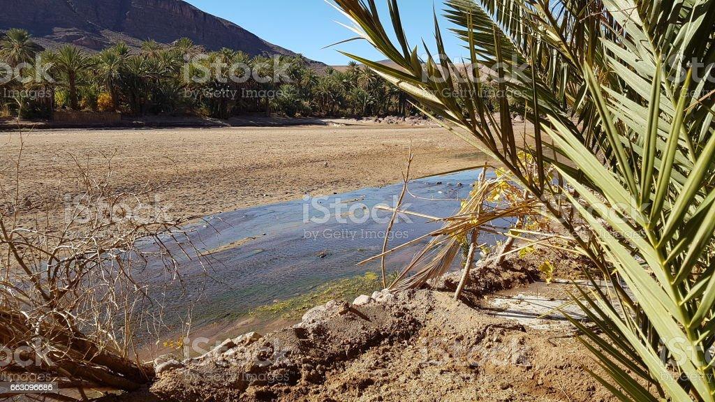 Morocco - The abandoned village fint Empty Lake stock photo