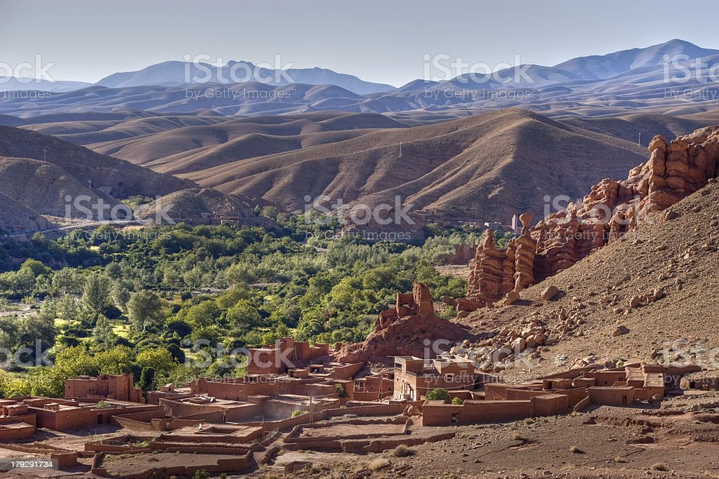 morocco village in dades valley stock photo