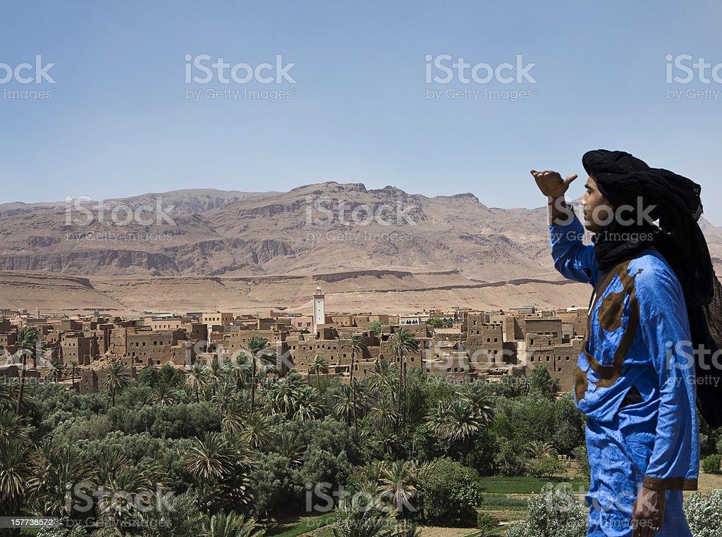 Morocco - Village on Atlas Mountain stock photo
