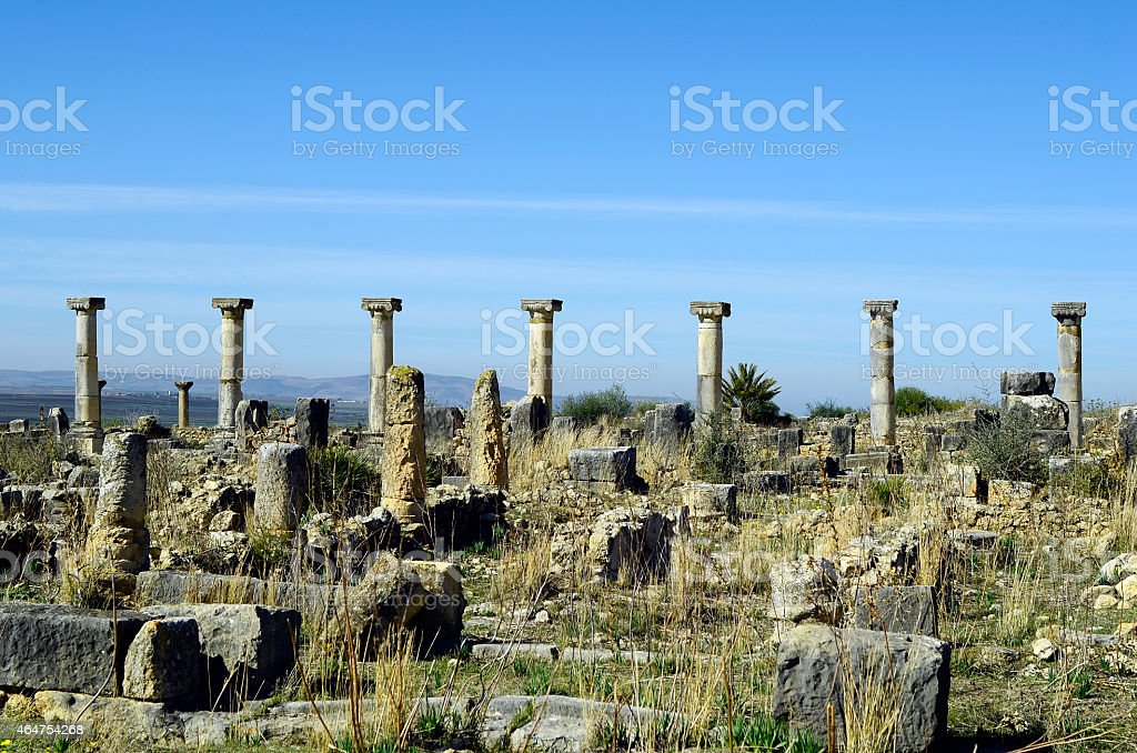 Morocco, Volubilis stock photo