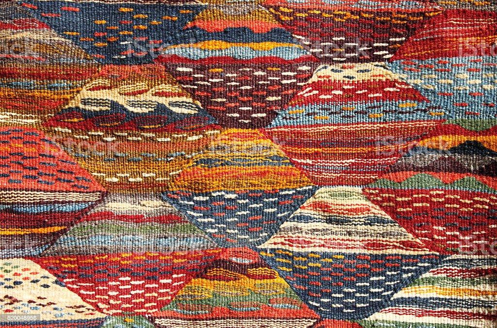 Moroccoan carpet stock photo