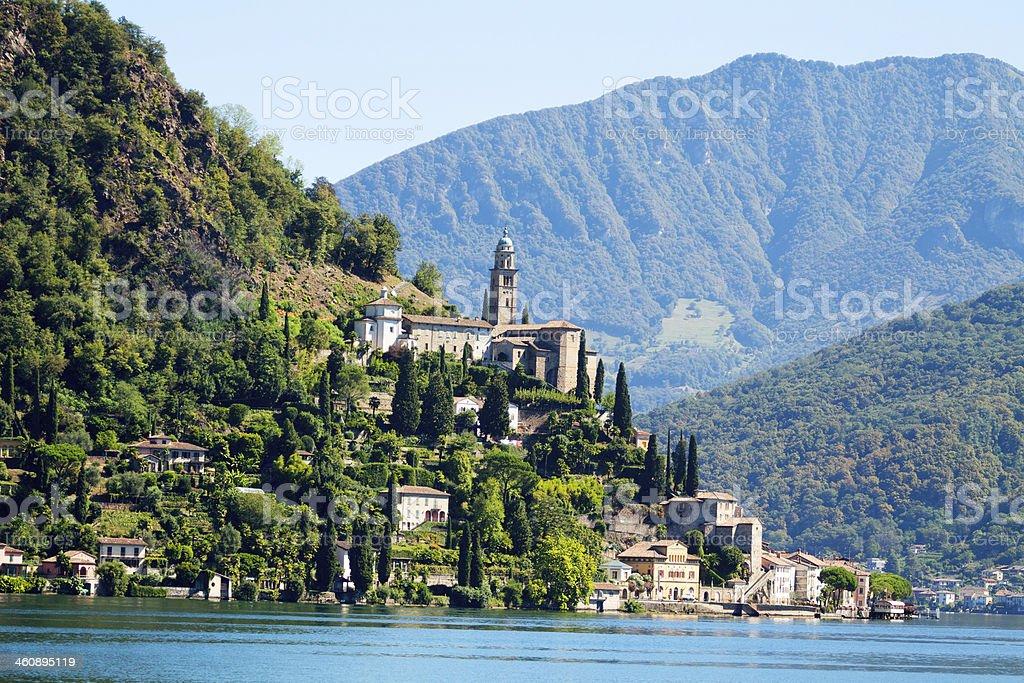 Morocte, Ticino, at Lake Lugano stock photo