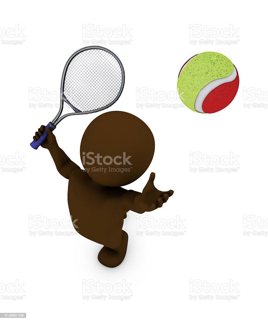 Morph Man Playing Tennis stock photo