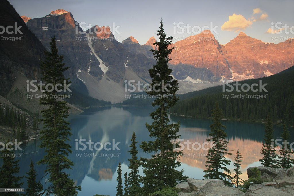 Morraine Lake royalty-free stock photo