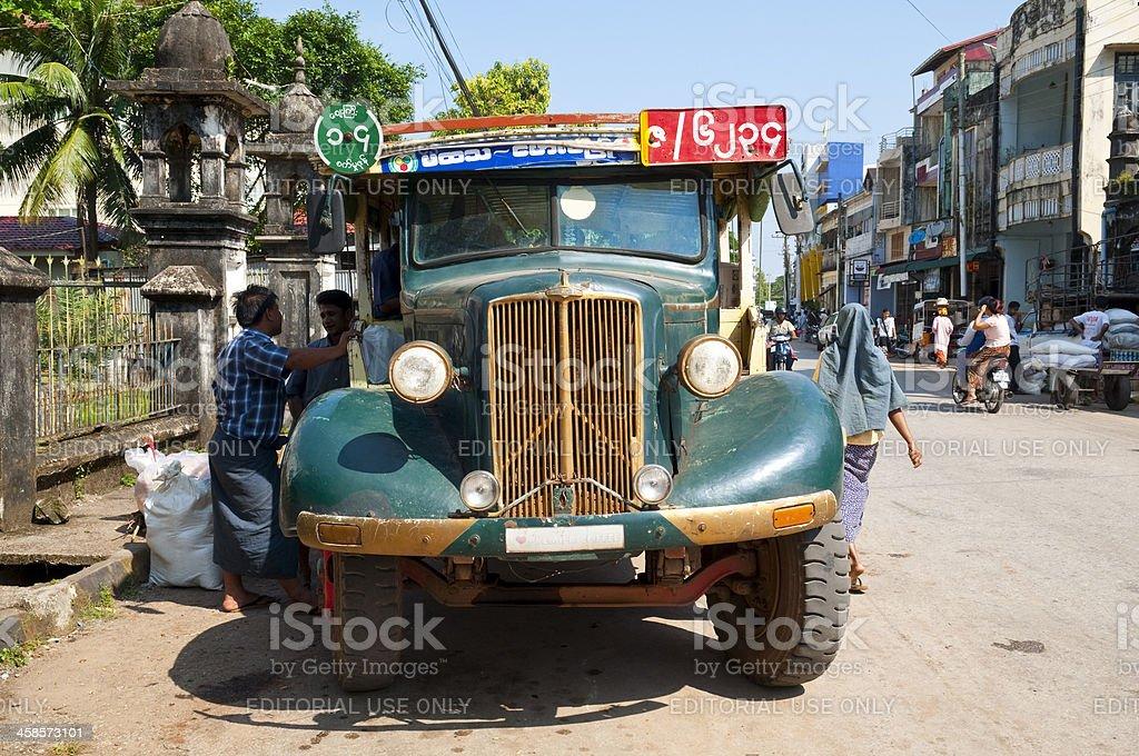 Morris Commercial truck in Myanmar stock photo