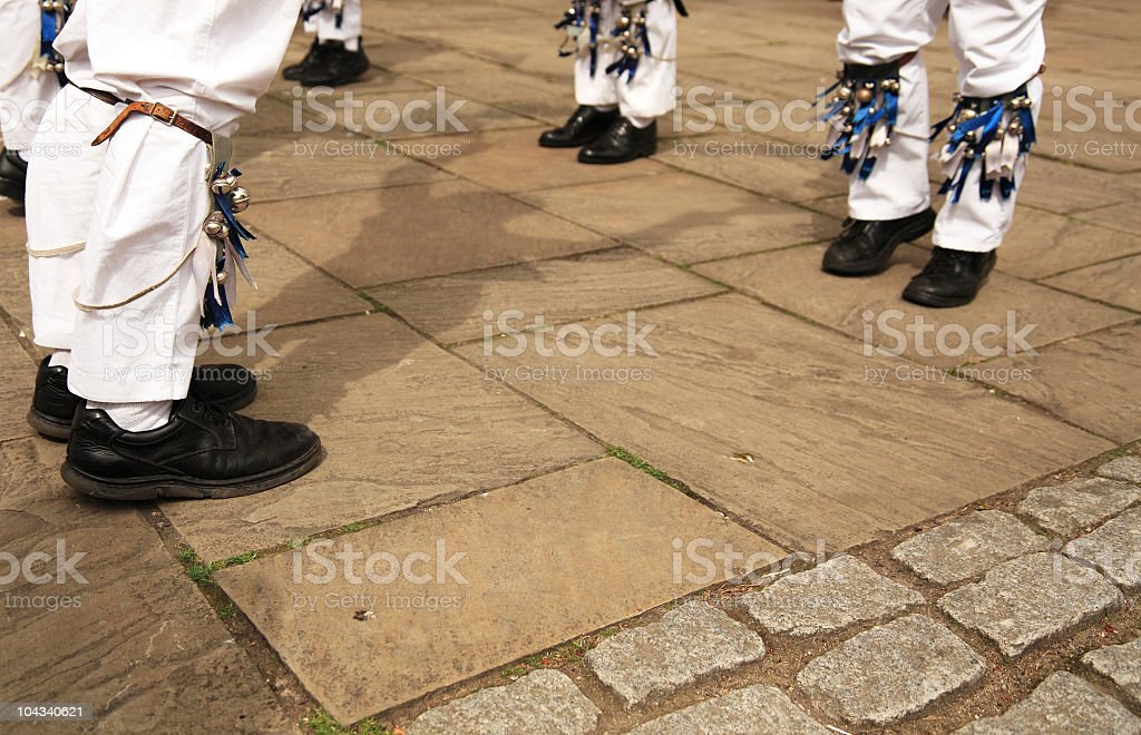 Morris Dancer from Head to Toe stock photo