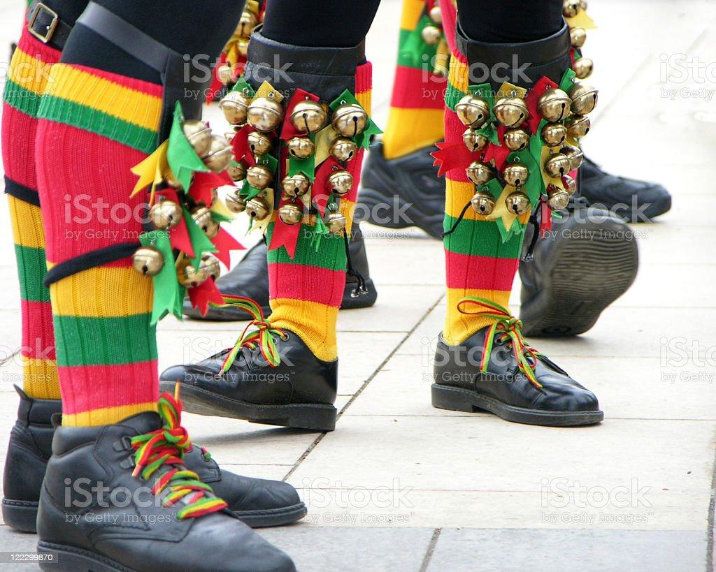 Morris Men Feet stock photo