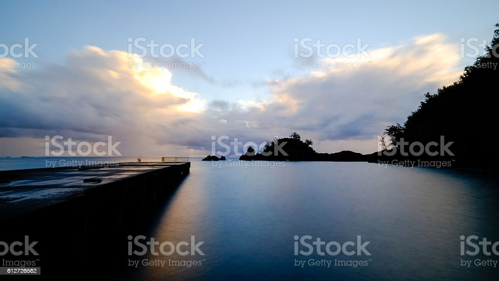 Morrning Beach stock photo