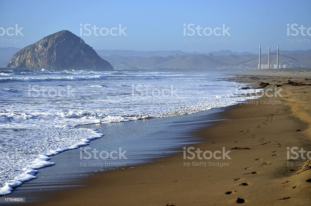 Morro Bay from the Penninsula stock photo