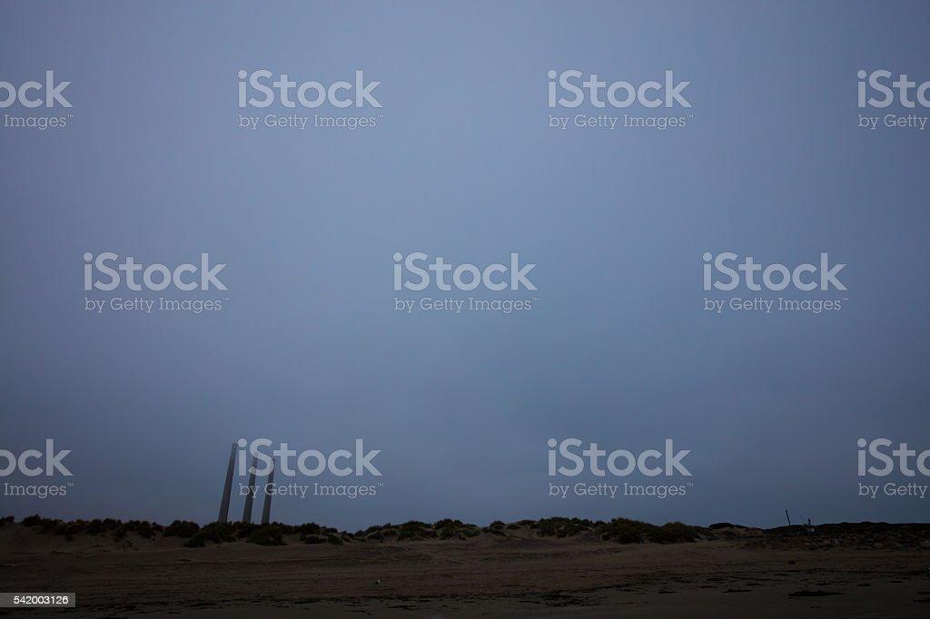 Morro Bay Power Plant stock photo