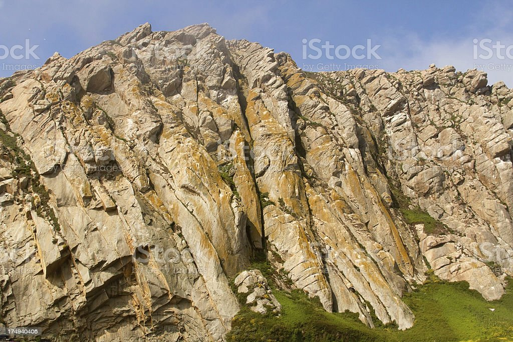 Morro Bay Rock Detail royalty-free stock photo