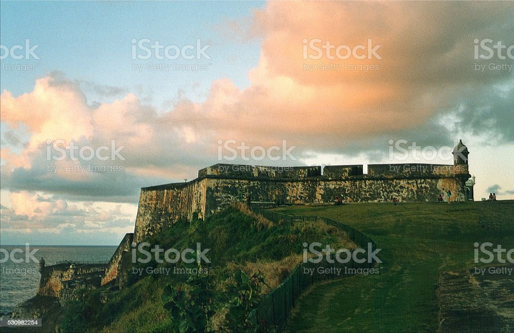 Morro Castle, San Juan, Puerto Rico stock photo