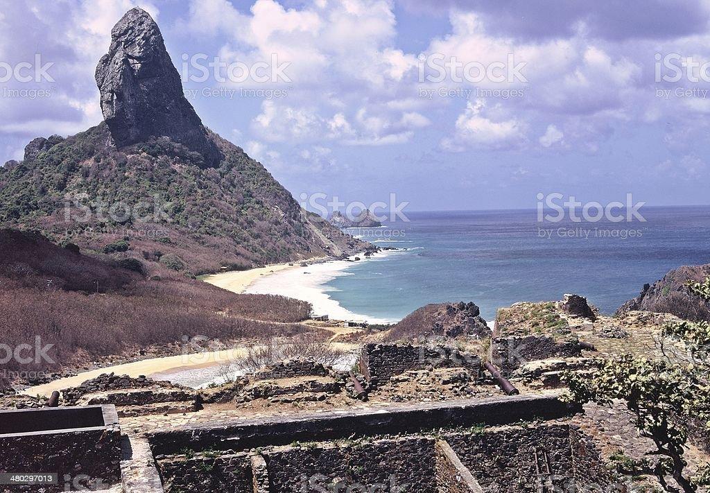 Morro do Pico, the archipelago of Fernando de Noronha, Brazil stock photo