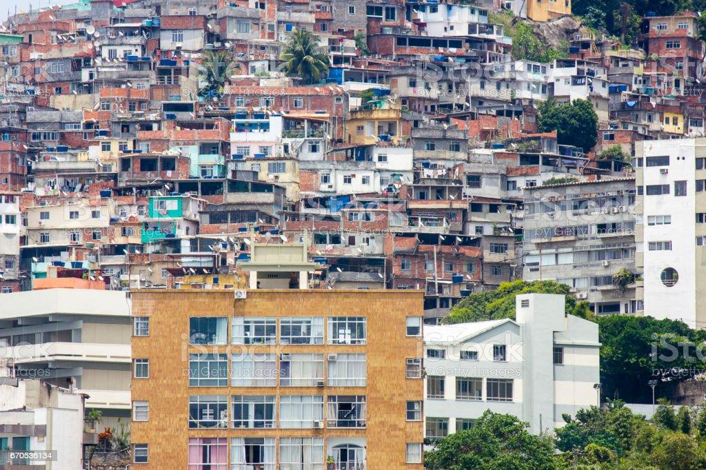 Morro do Vidigal stock photo