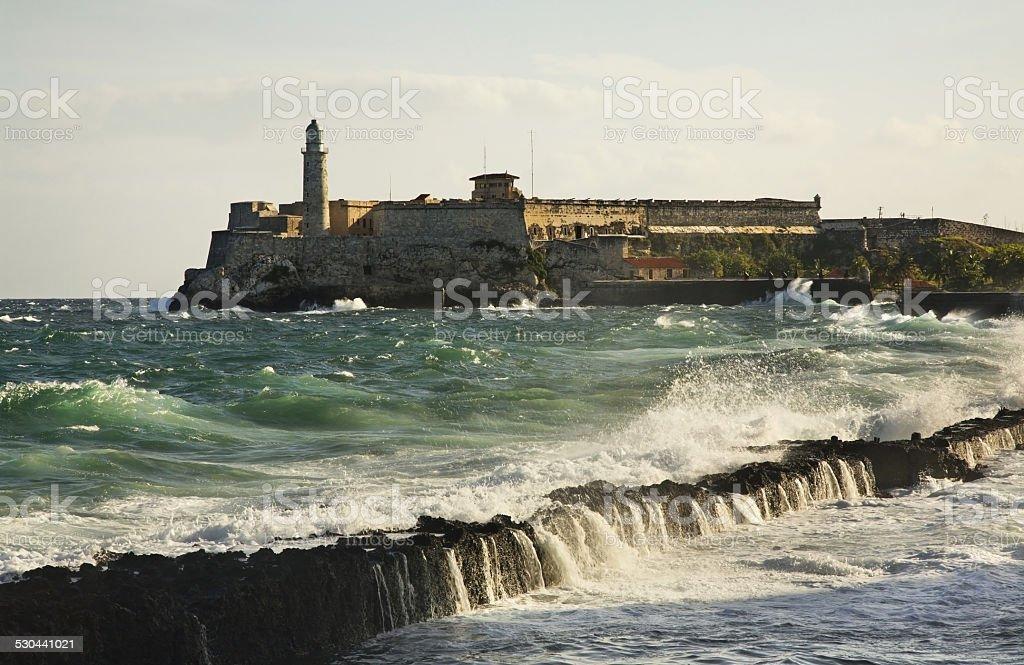 Morro fortress in Havana. Cuba stock photo