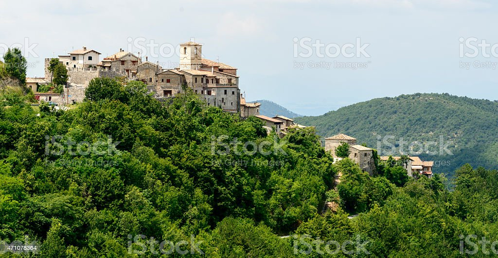 Morro Reatino, italian village stock photo