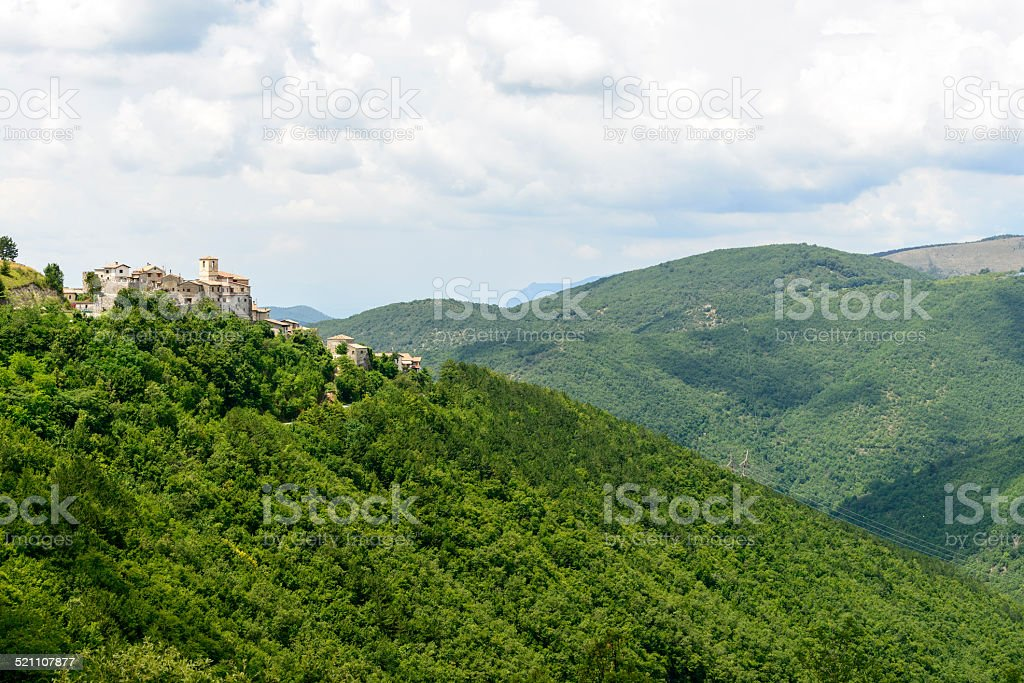 Morro Reatino, italian village stock photo