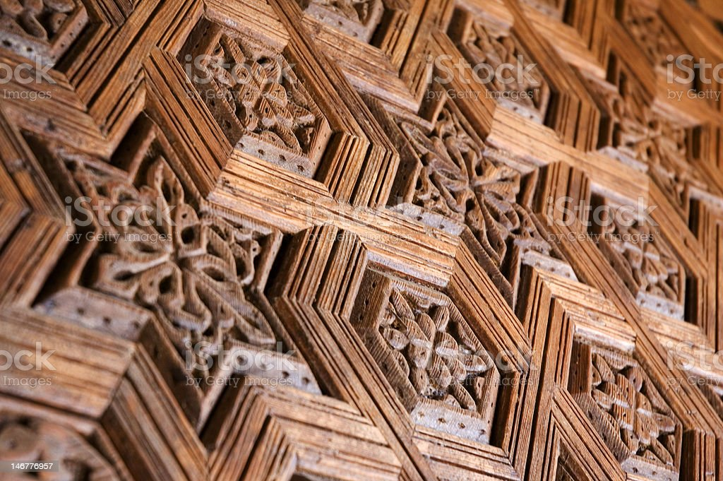 Morrocan Woodwork stock photo