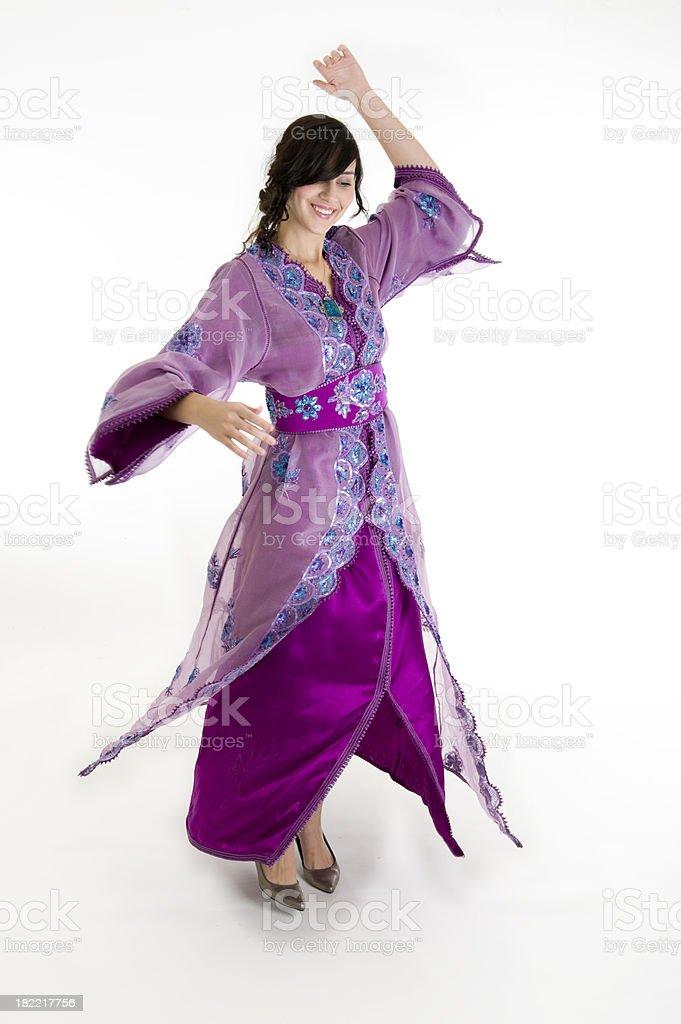 Morroccan Woman Dancing stock photo