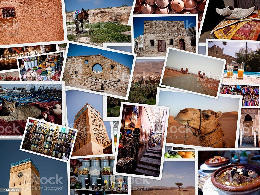 Morrocco Travel Collage stock photo