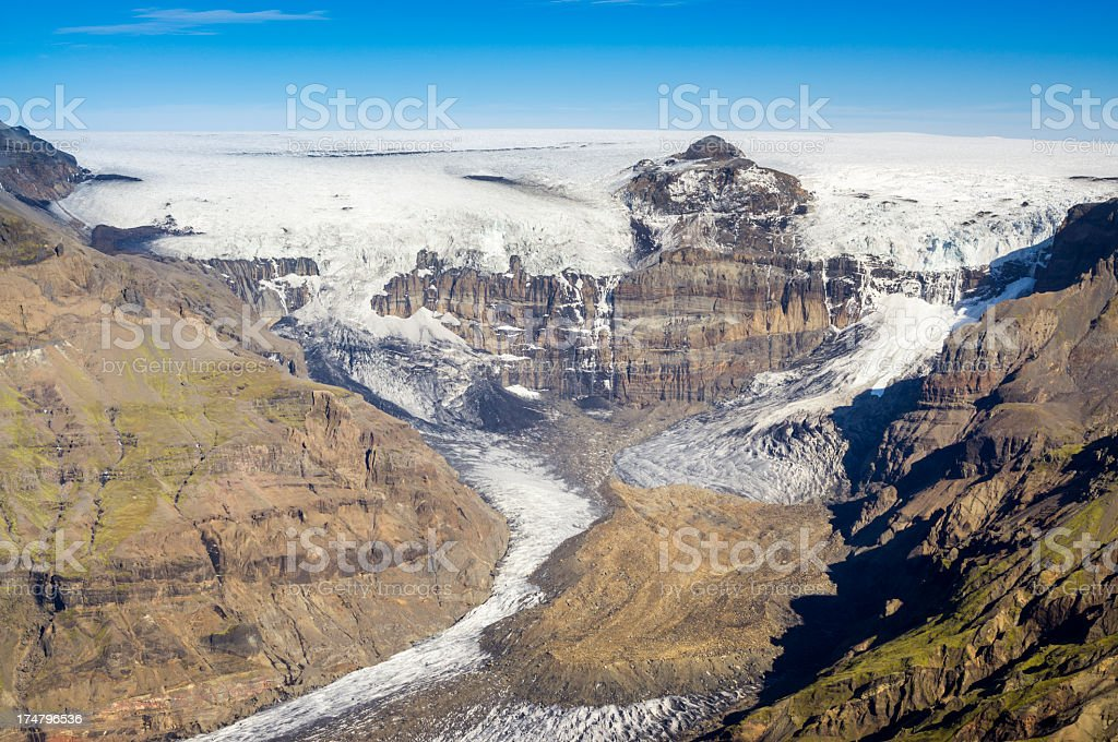 morsarjökull, iceland stock photo