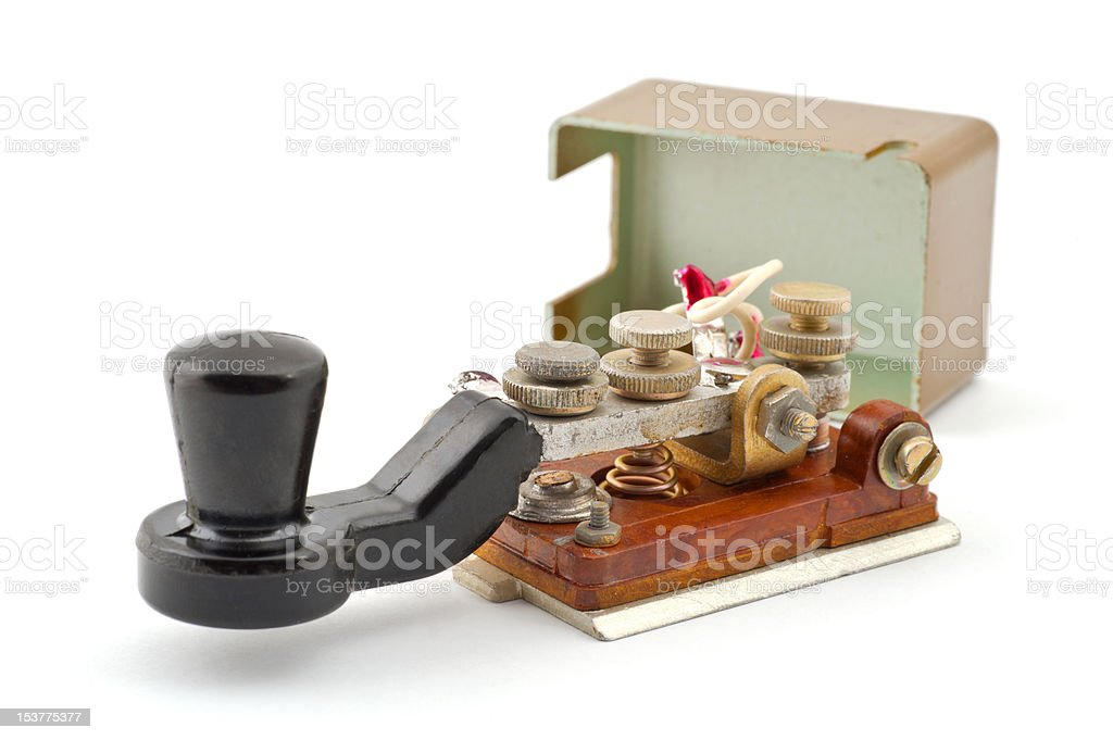 Morse code key royalty-free stock photo