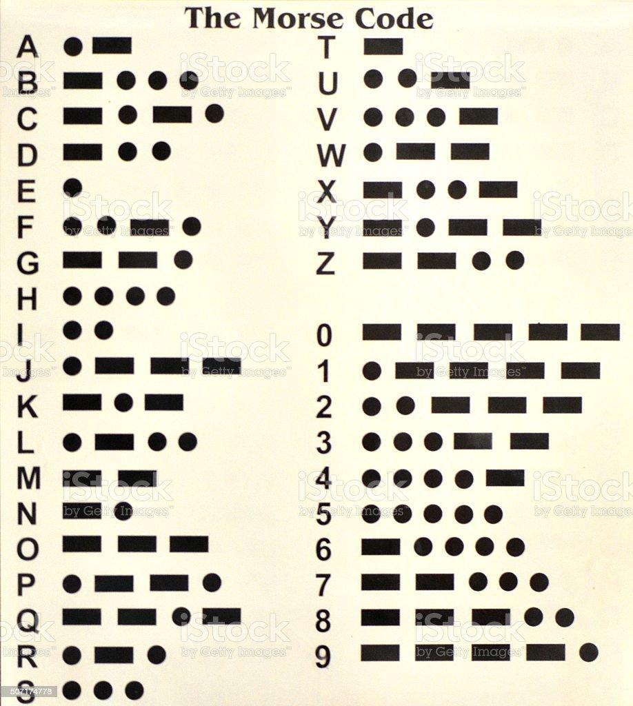 Morse Code stock photo