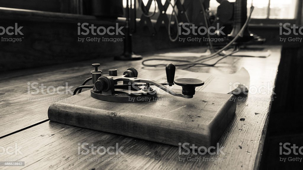 Morse Code & Telegraph stock photo