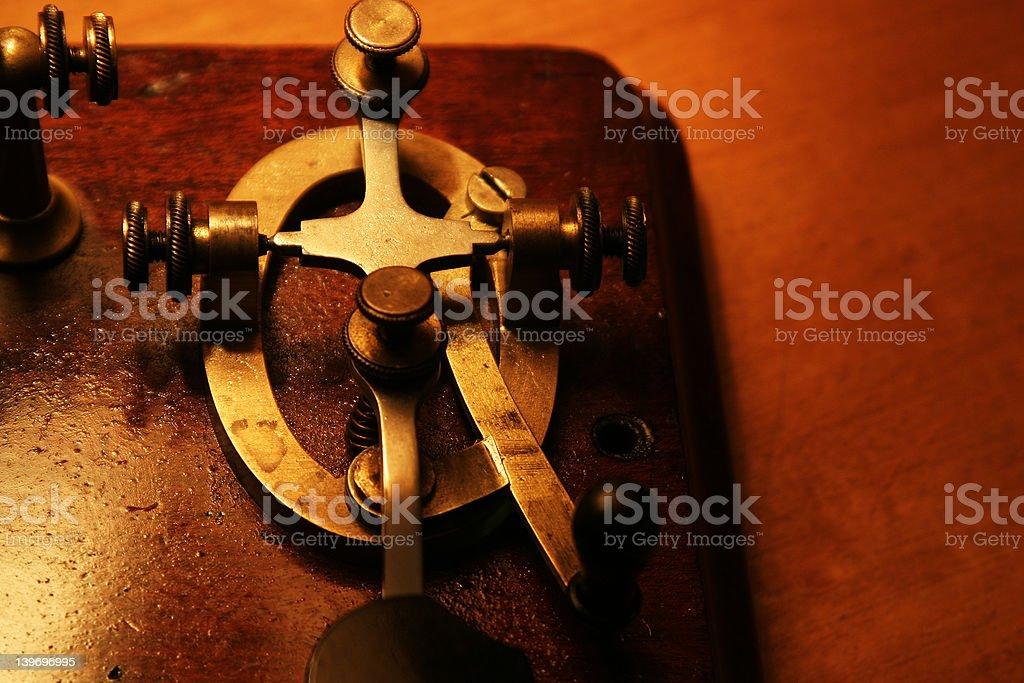 Morse Code Transmitter royalty-free stock photo