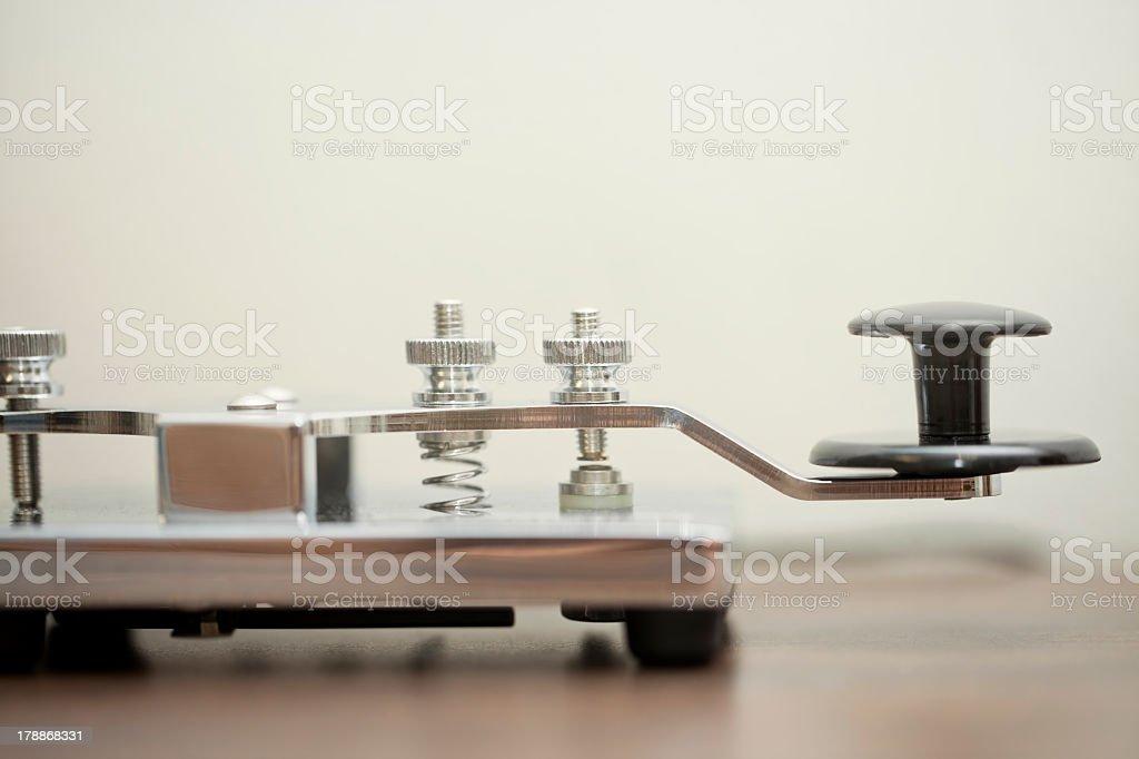 Morse Communication royalty-free stock photo