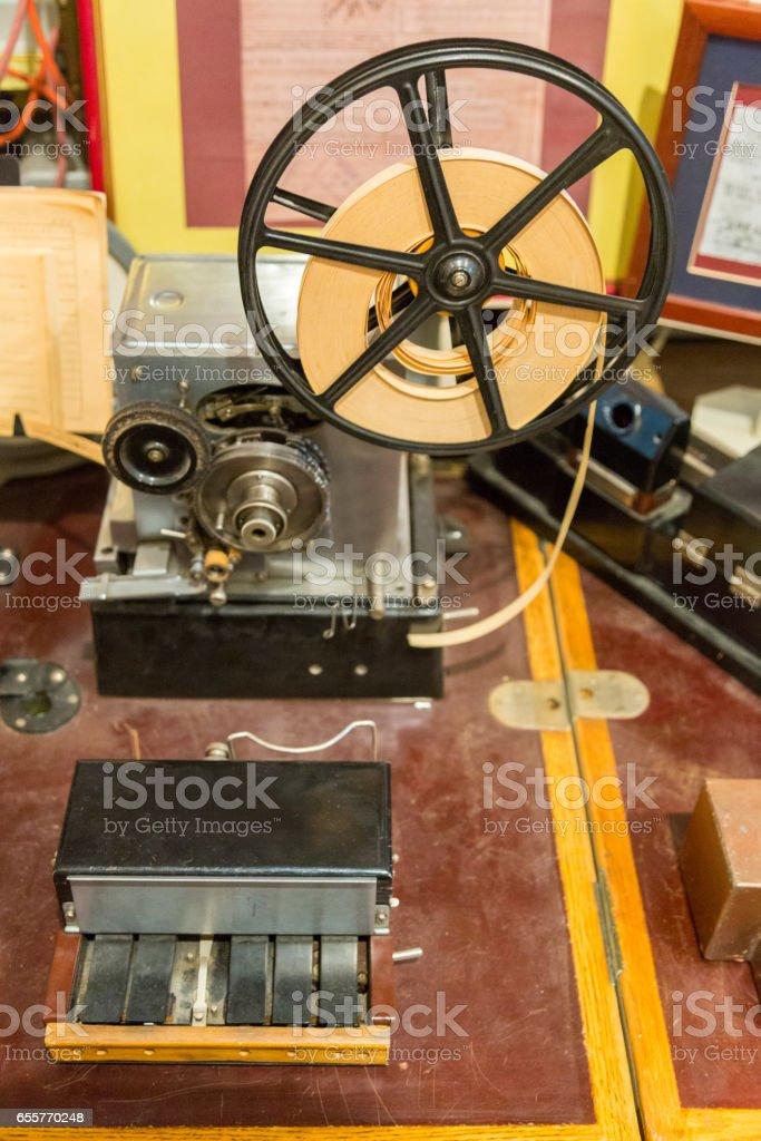Morse electric telegraph stock photo