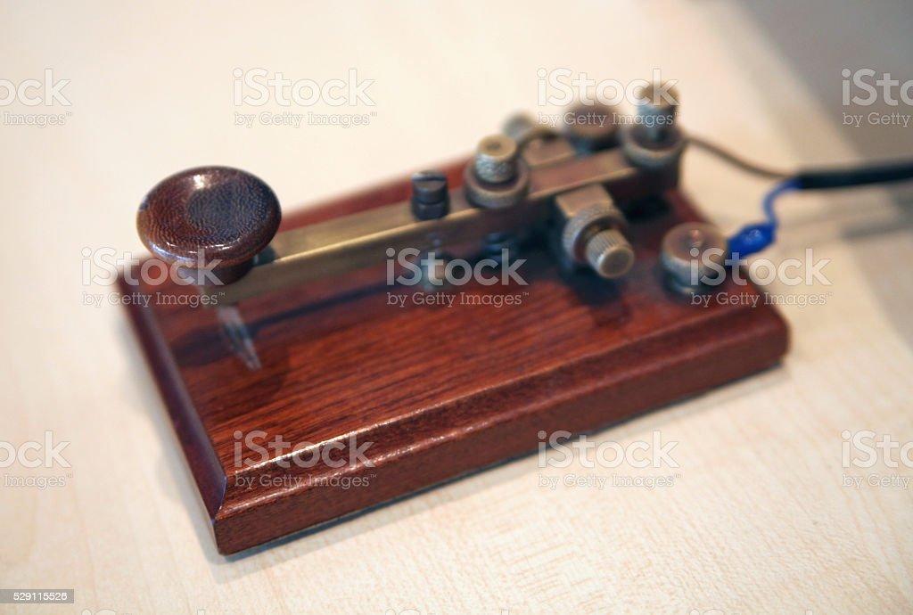 Morse Telegraph buzzer stock photo