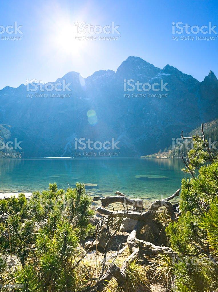 Morskie Oko Lake in Tatra Mountains stock photo