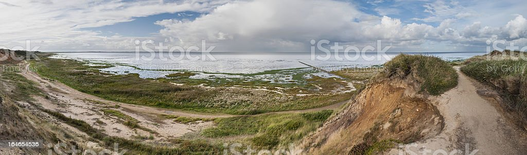 Morsum Cliff Panorama royalty-free stock photo