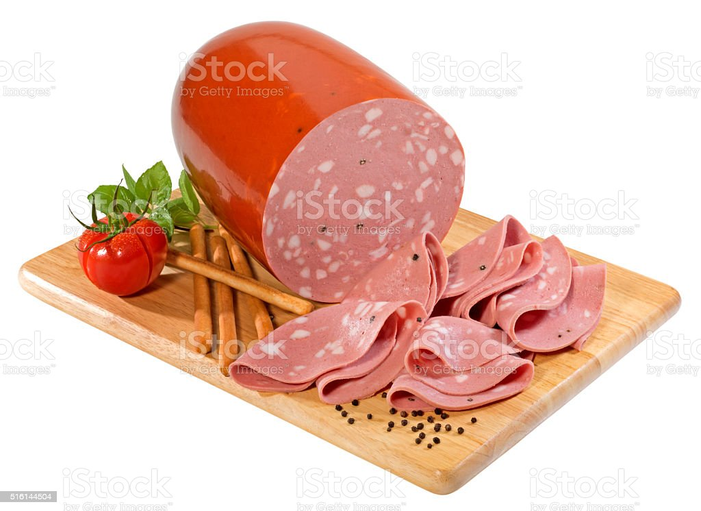 Mortadella Bologna stock photo