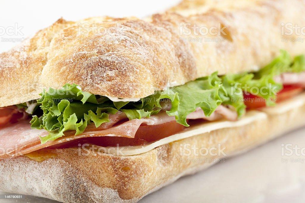 Mortadella sandwich royalty-free stock photo
