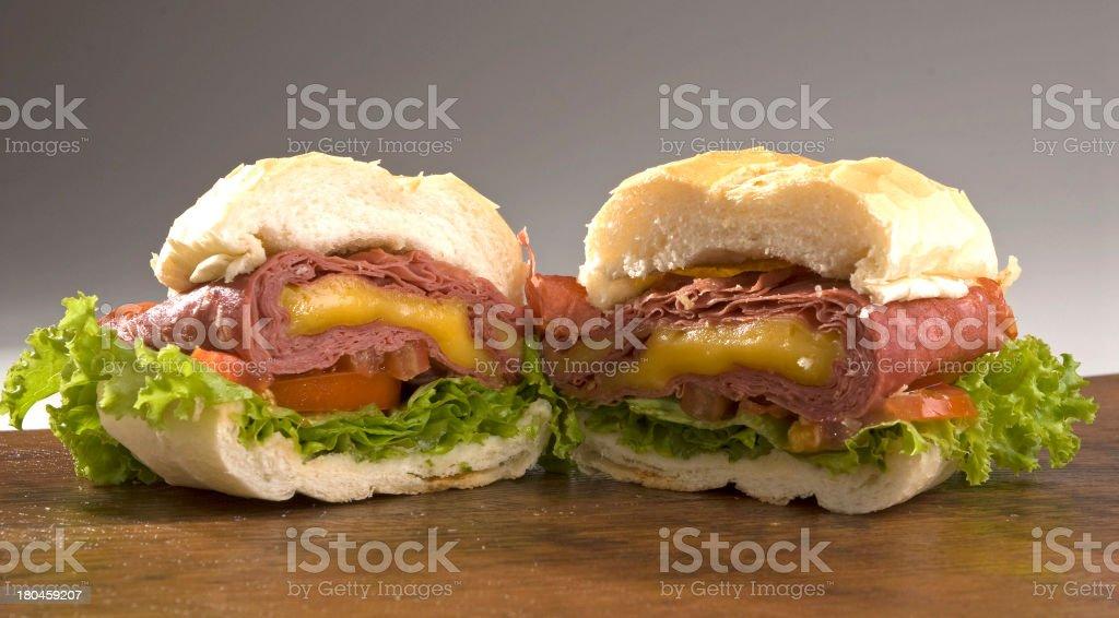 Mortadella Sandwich stock photo