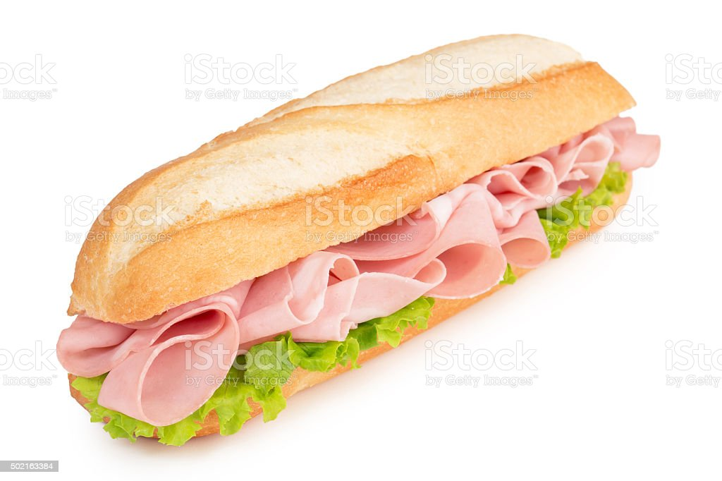 mortadella sub stock photo