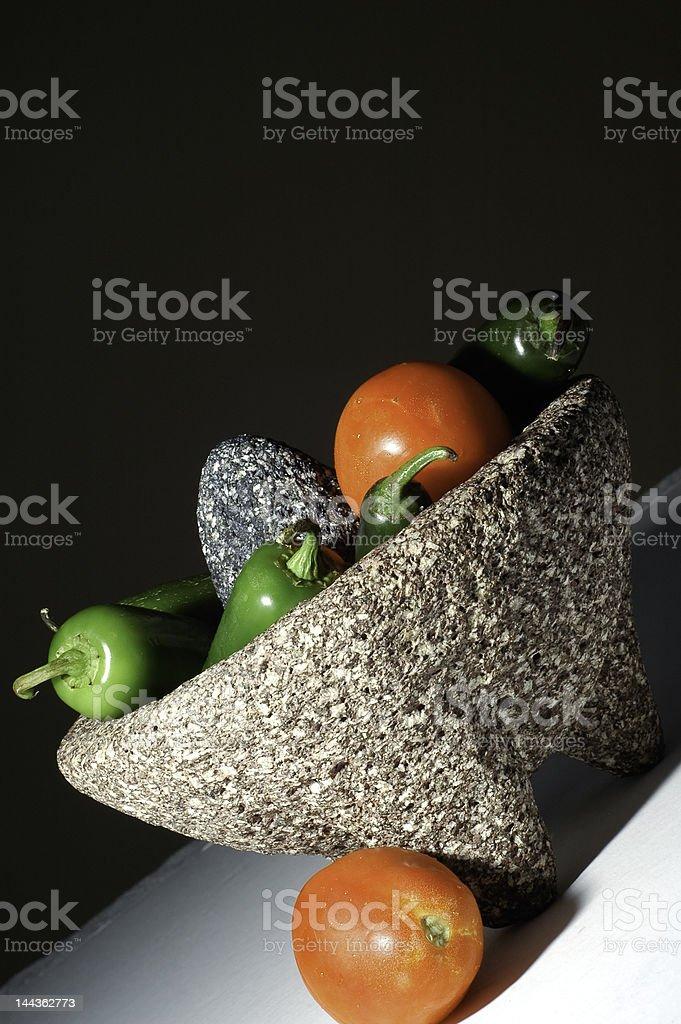 Mortar and Pestle (Molcajete) stock photo