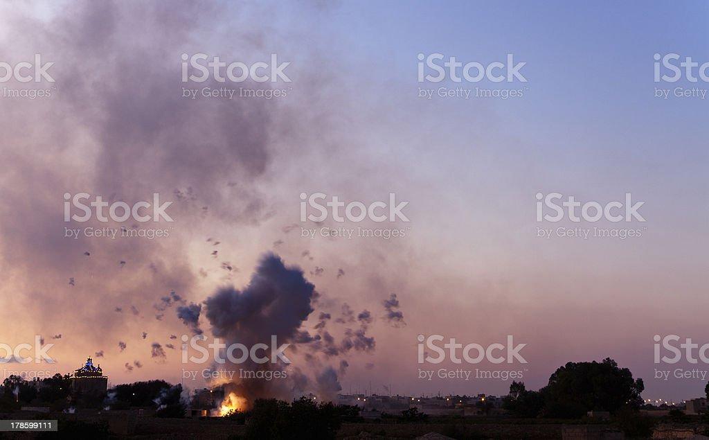 Mortar Blast royalty-free stock photo
